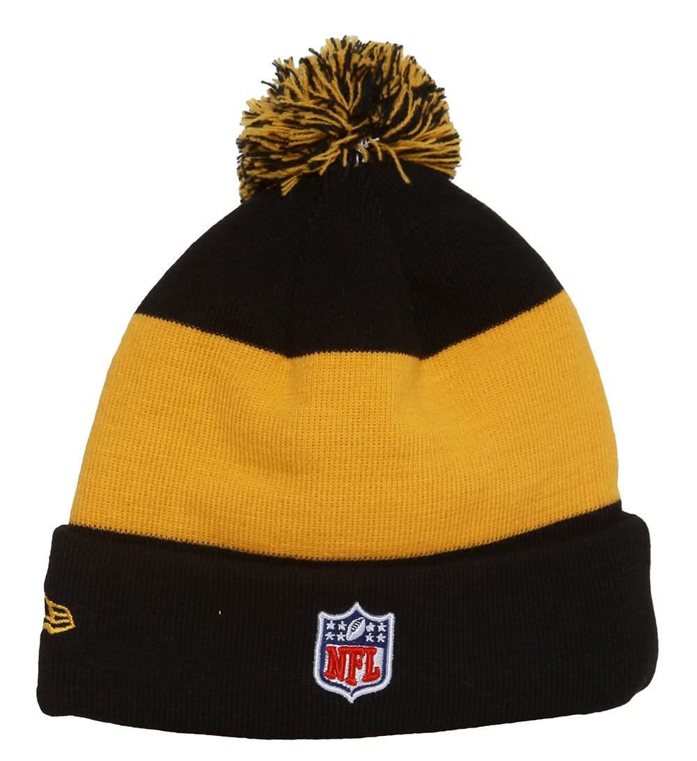 4d39e1e649f19 Amazon.com   New Era Pittsburgh Steelers Onfield Classic Pom Knit Beanie Hat  Cap   Sports Fan Beanies   Sports   Outdoors