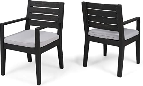 Great Deal Furniture Arely Outdoor Acacia Wood Dining Chair
