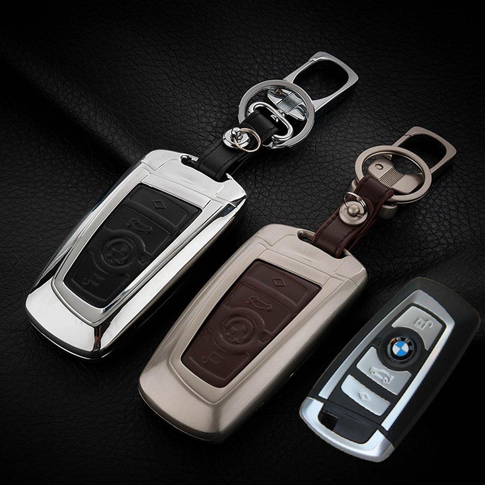 車のリモートキーホルダーケースカバー、3dキーリモートケースフィットBmw 2 3 4 5 6 7シリーズリモートスマートキーFob、basso-relievo、グラフィティPainted、亜鉛合金スタイル ブラック BMW01 B0777QKLFJ Black(zinc alloy) Black(zinc alloy)