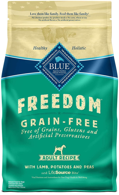Blue Buffalo Freedom Grain Free Recipe for Dog, Lamb Recipe, 4 lb