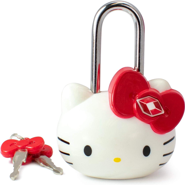 Hello Kitty TSA Approved Padlock - Girls TSA Keyed Luggage Lock, 1.5 Inch Wide Naftali Inc