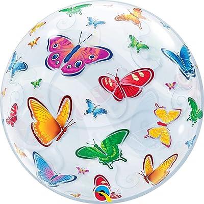 Qualatex 3D Butterflies Bubble Balloon, 22-Inch: Toys & Games
