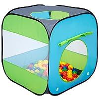 LittleTom Tente de Jardin à Boules 70x70x72cm Jouet Jeunes Enfants Bleu