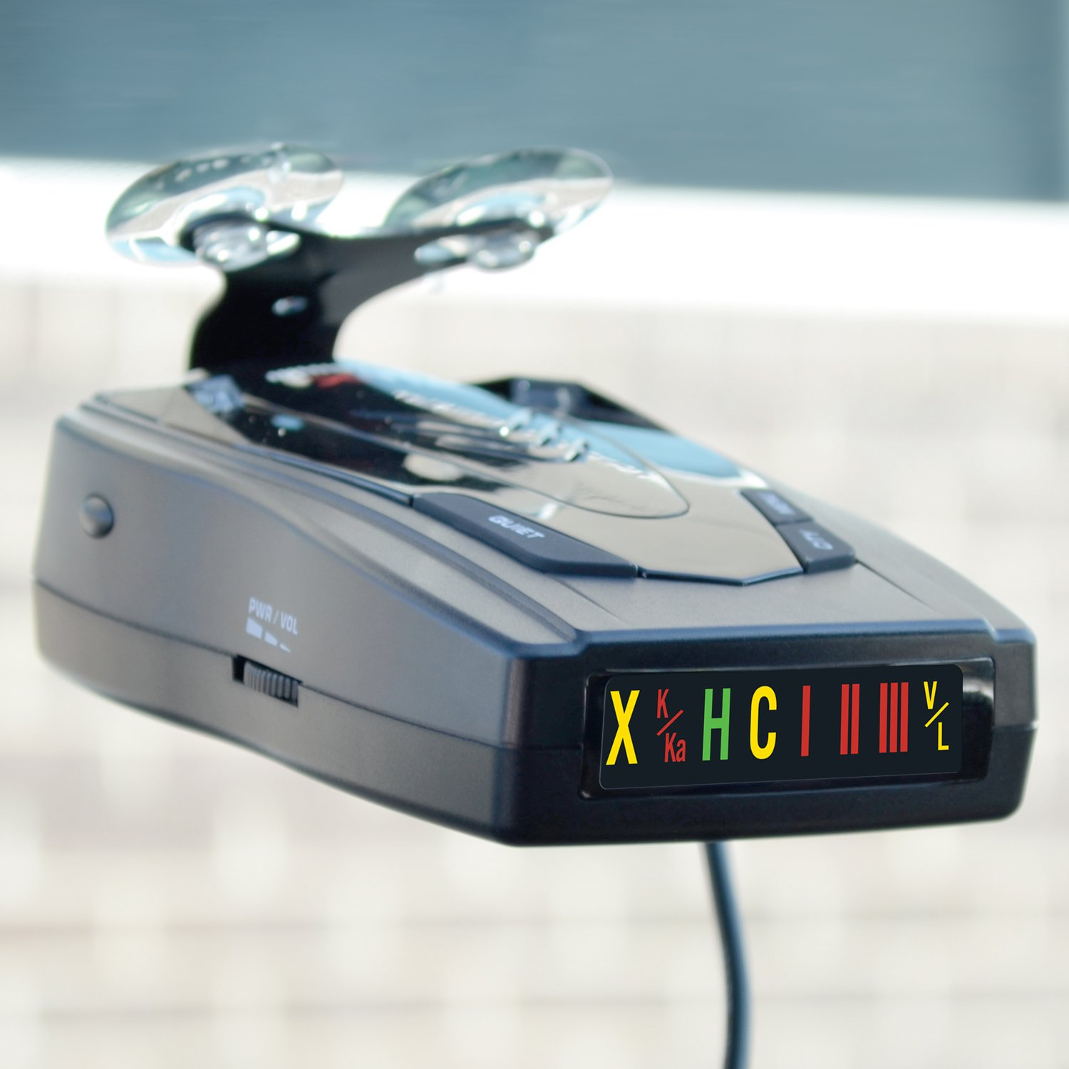 Whistler XTR-145 Laser Radar Detector 360 Degree Protection and Tone Alerts Icon Display
