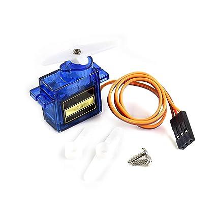 Amazon com: SG90 Micro Servo Motor, Plastic-Geared Servo Motor, Used