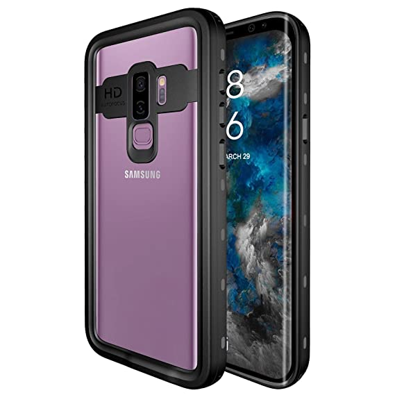 the best attitude ad081 a2a92 Galaxy S9 Plus Waterproof Case, Underwater Cover Full Body Protective IP68  Waterproof Shockproof Protective Clear Case with Built in Screen Protector  ...