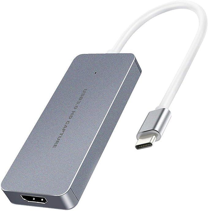 Y&H Tarjeta de Captura de Juegos HDMI 1080P 60fps Tipo-C Grabadora ...