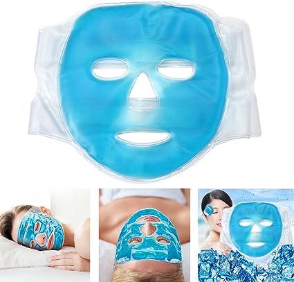 Funwill Mascarilla de refrigeración facial, paquete de gel para ...