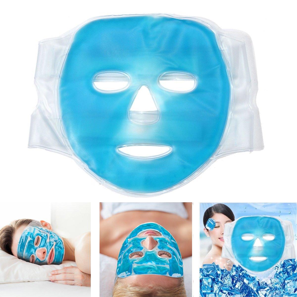 Funwill Kühlmaske für Gesicht,Gel, für Kopfschmerzen/Haut/Schlaf/geschwollene Augen Gel