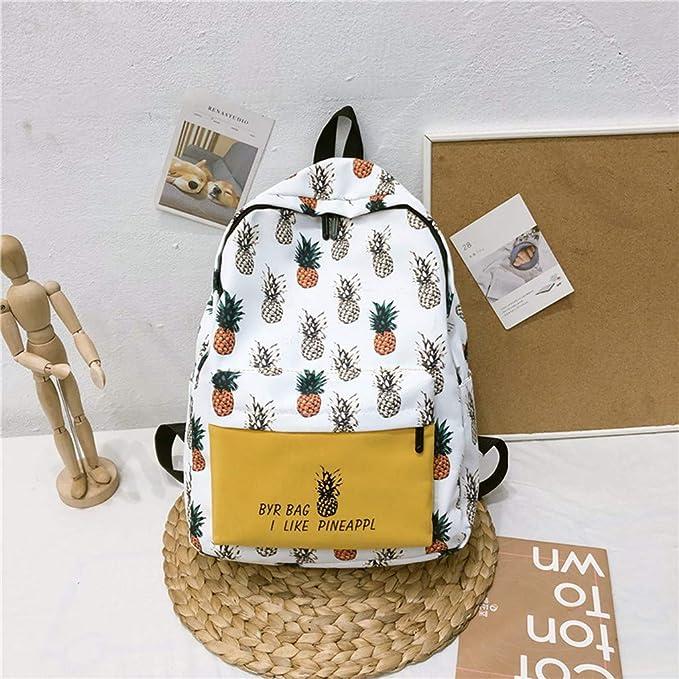 d54ce0560f4b Amazon.com: Women Canvas Backpack 🎒 Pineapple Print Small Fresh ...