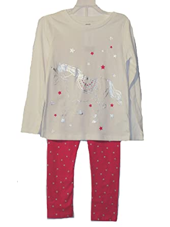 685049a7238a Amazon.com  Carter s Girl s Silver Foil Unicorn and Star Print ...