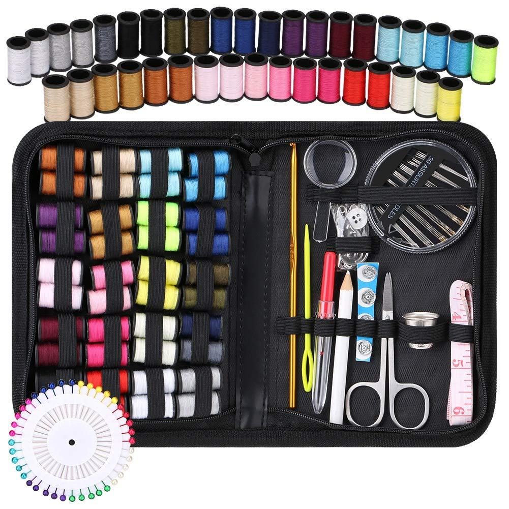 Coquimbo Sewing kit Mini Travel Home Premium Sewing Kit Accessories with Carrying Case for Adults Kids Girls Beginner