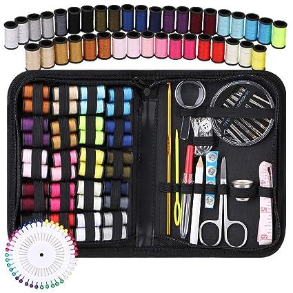 Coquimbo Kit de Costura, Portátil kit costura para hogar de viaje accesorios de costura con