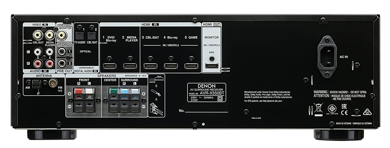 Denon AVR-X550BT - Sintoamplificatore 5.2