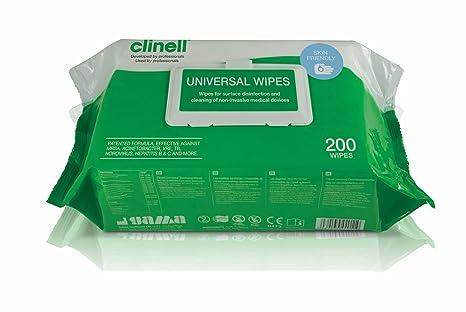Kills 99.99/% of Germi Clinell Universale Sanificazione Salviette Disinfettare