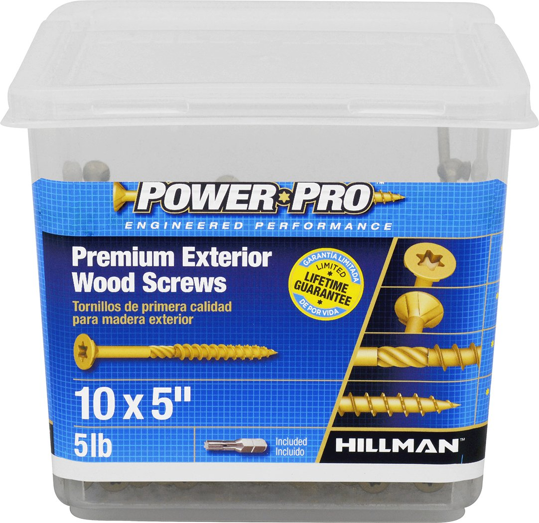 213 pack The Hillman Group 10 X 5-Inch Hillman 48617 Power Pro Premium Exterior Wood Screw