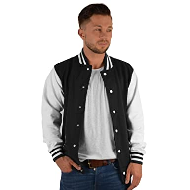 d66dcd001be361 Veri Herren College Jacke College Jacke für Herren Rockabilly Retro Jacke  Freizeitjacke Sweatjacket USA Übergangsjacke: Amazon.de: Bekleidung