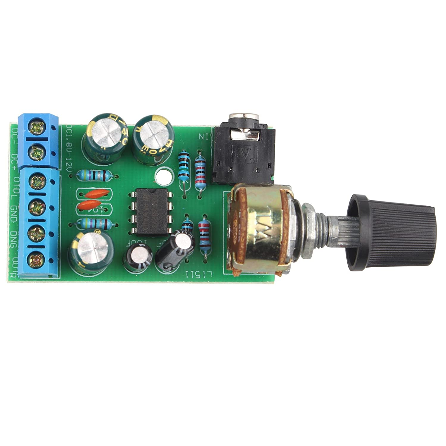 Dc18 12v Tda2822m Amplifier 2 Channels Stereo 35mm Amp Channel Subwoofer Audio Circuit Board Mini Aux Module Car Electronics