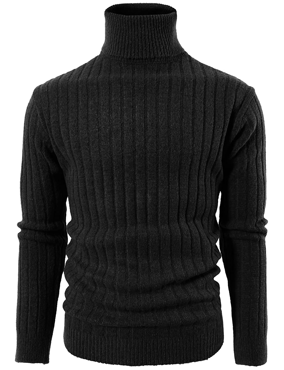 H2H Mens Casual Basic Designed Turtleneck Jumper