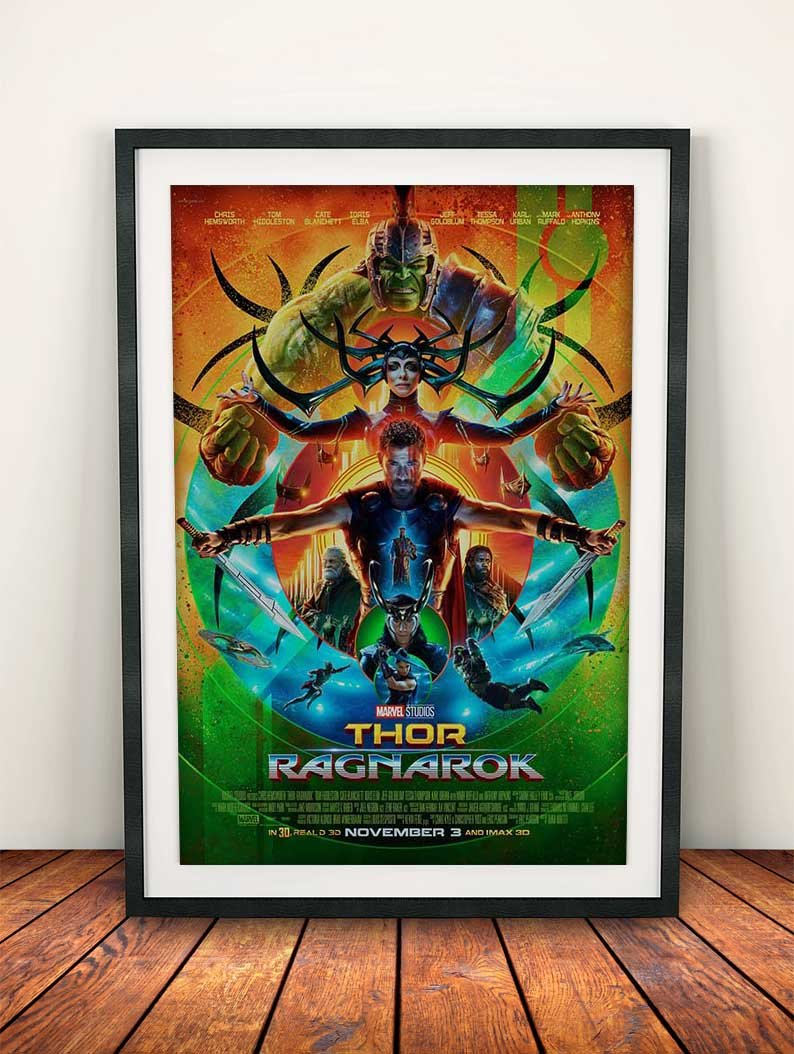 A4 Thor Ragnarok 6 Movie Poster Canvas Picture Art Print Premium Quality A0