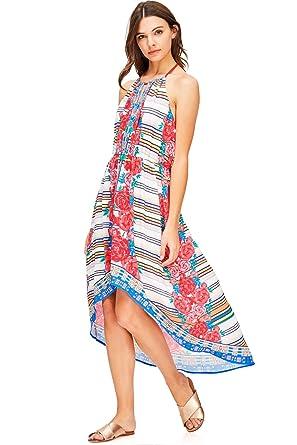 6765b36574d Flying Tomato Women s High-Low Cut Printed Dress (S