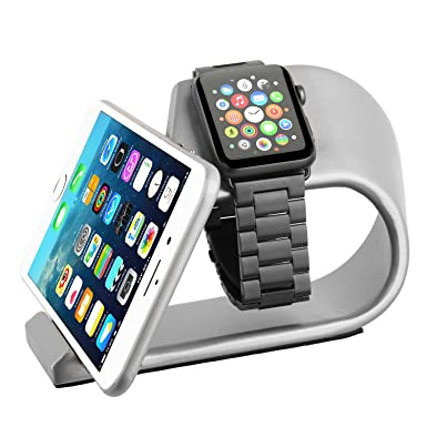 Apple Watch Stand, Apple Watch iPhone Dock de carga de aleación de aluminio, iWatch