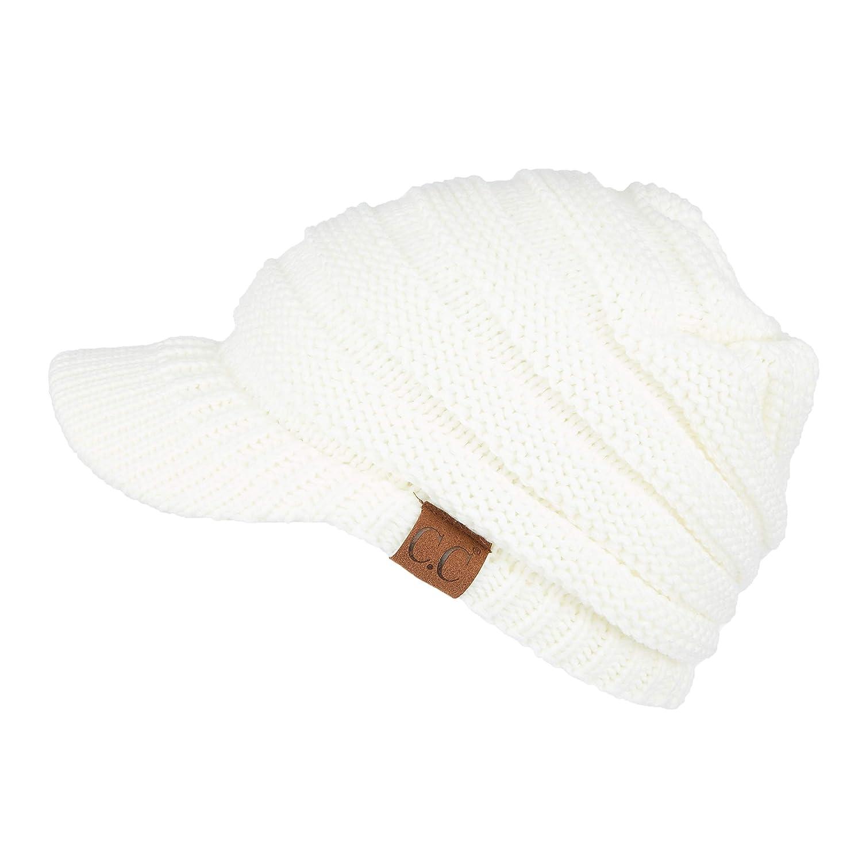 c902971d6dffb C.C BeanieTail Soft Stretch Cable Knit Messy High Bun Ponytail Beanie Hat