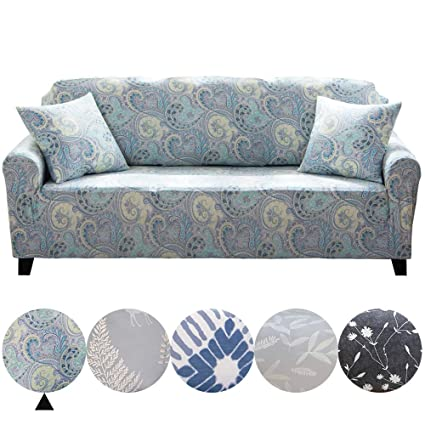 Wondrous Dotteen Super Soft Stretch Sofa Cover Plush Couch Cover Sofa Slipcover For Loveseat Furniture Protector With Two Match Pillow Cases Paisley Mauve Gmtry Best Dining Table And Chair Ideas Images Gmtryco