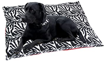 Perros Cojín cama para perros 90 x 70 cm tumbona Cojín, rectangular, manta cama, Zebra: Amazon.es: Productos para mascotas