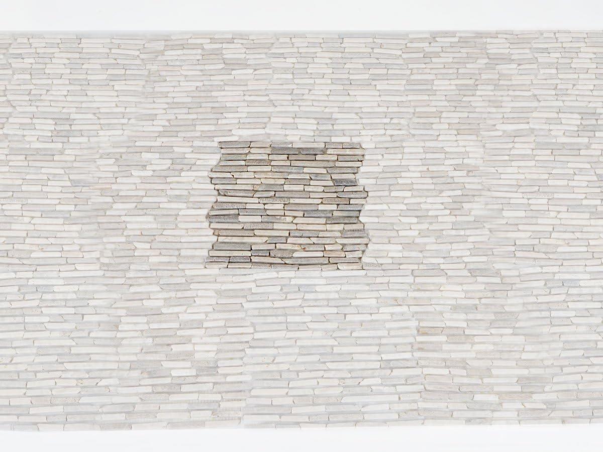 Mendler Carrelage Vigo T688 mosaique 11 pi/èces /à 30x30cm = 1m/² ~ cr/ème//Gris Pierre Naturelle Baguettes marbre
