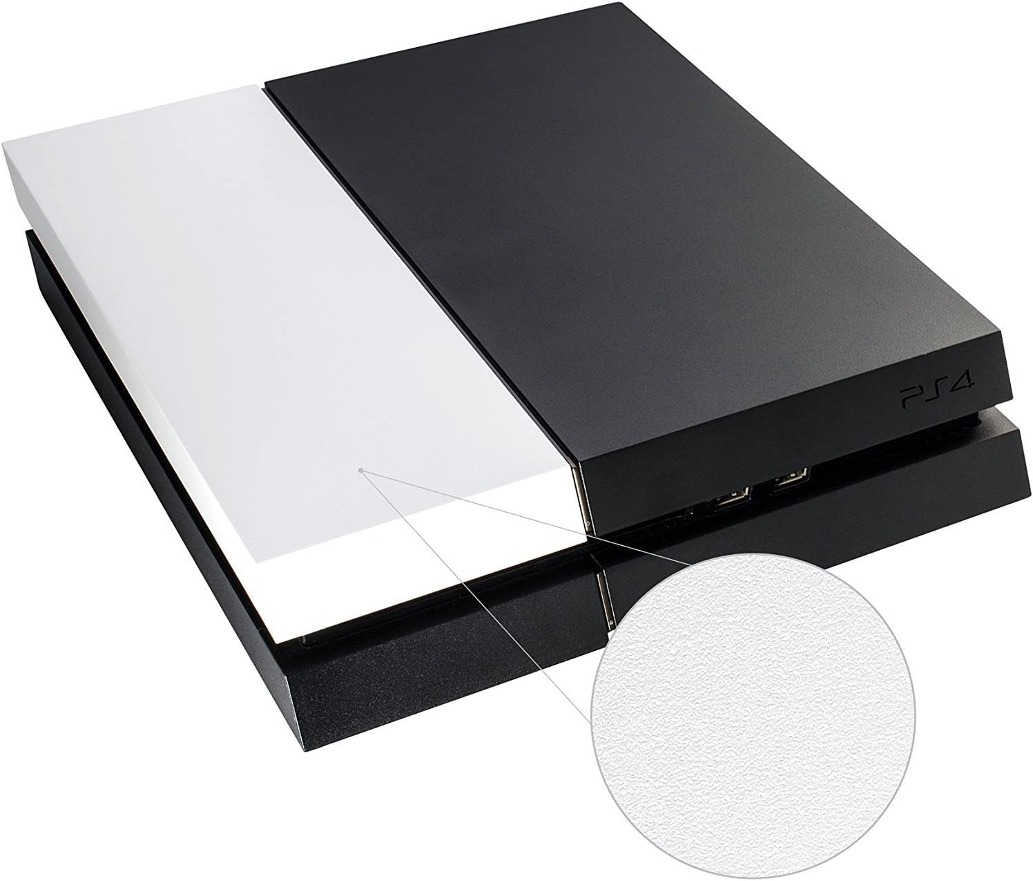 HDD Bay Hard Drive Cover Shell Case Replacement Faceplate for PS4 Console White Color
