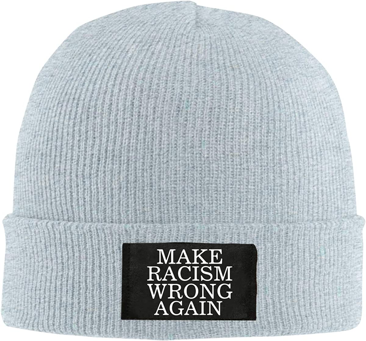 Make Racism Wrong Again Unisex Knitted Hat Fashion Warm Beanie Cap