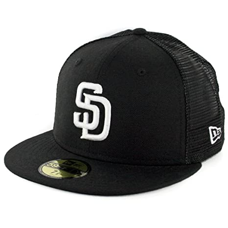 Image Unavailable. Image not available for. Color  New Era 59Fifty San Diego  SD Padres Trucker Fitted Hat ... 72f5b5f6b8f