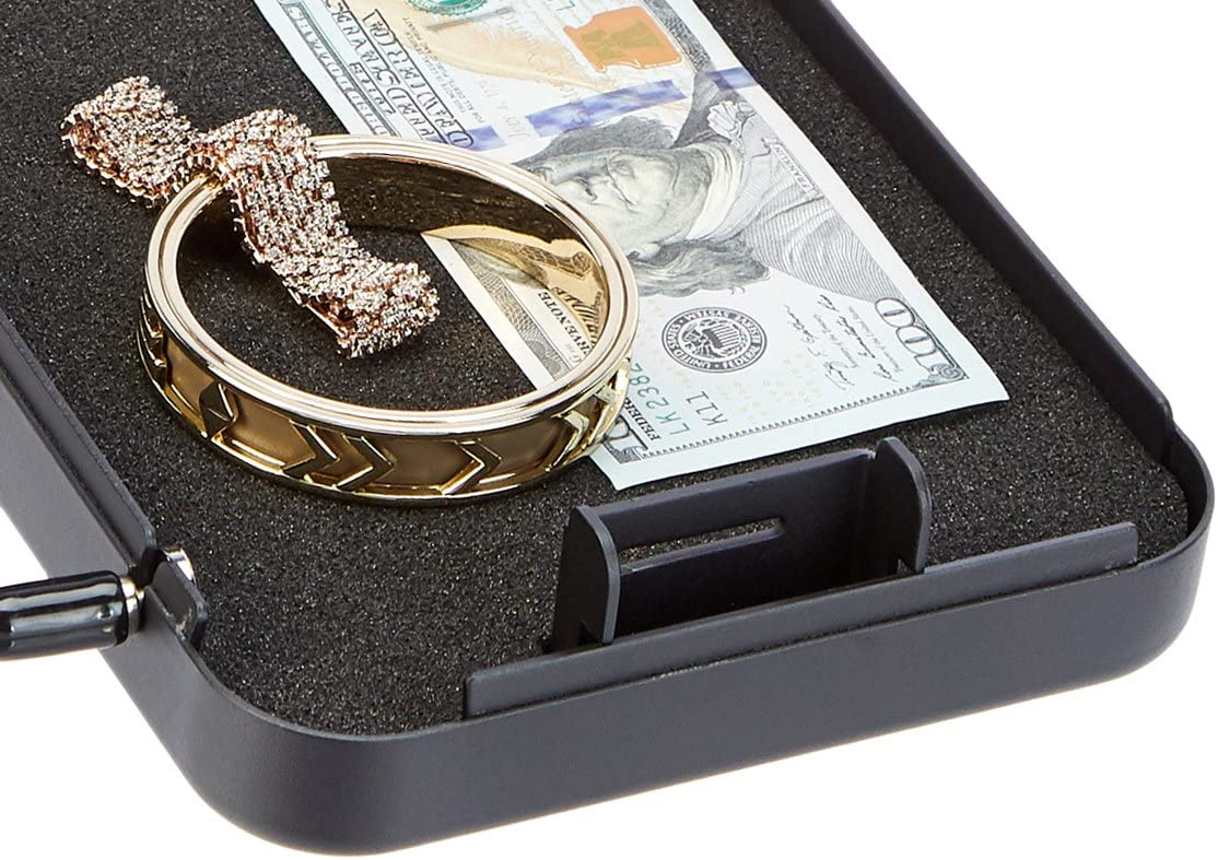 Basics Portable Security Case Lock Box Safe, Combination Lock, Large: Home Improvement