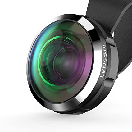 iPhone Lens LENSOUL Super Wide Angle Fisheye Lens, Professional HD Cell Phone Camera Lens for iPhone, Samsung Smartphone