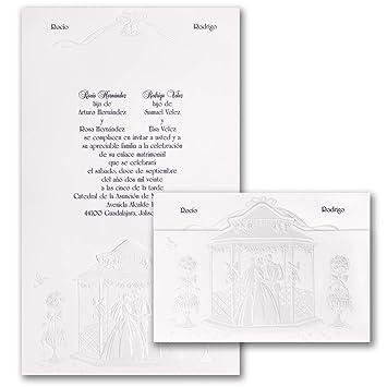 amazon com 125pk grand wedding gazebo invitation spanish