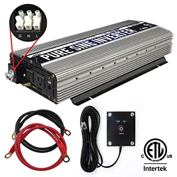 GoWISE Power PS1006 3000W Pure Sine Wave Power Inverter + Hardwire on