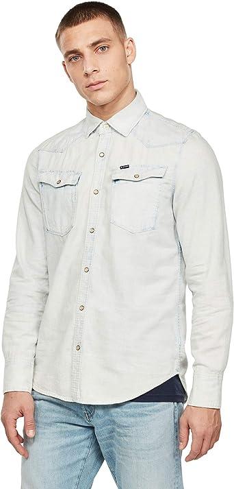 G-STAR RAW 3301 Seasonal Destroy Slim Camisa para Hombre: Amazon.es: Ropa y accesorios