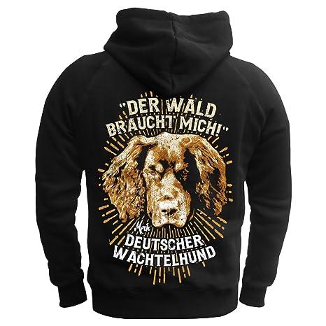 Männer und Herren Kapuzenpullover Deutscher Wachtelhund - Der Wald braucht  mich (mit Rückendruck): Amazon.de: Bekleidung