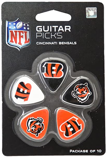 Woodrow Guitar by The Sports Vault NFL Cincinnati Bengals Guitar Picks, 10  Pack