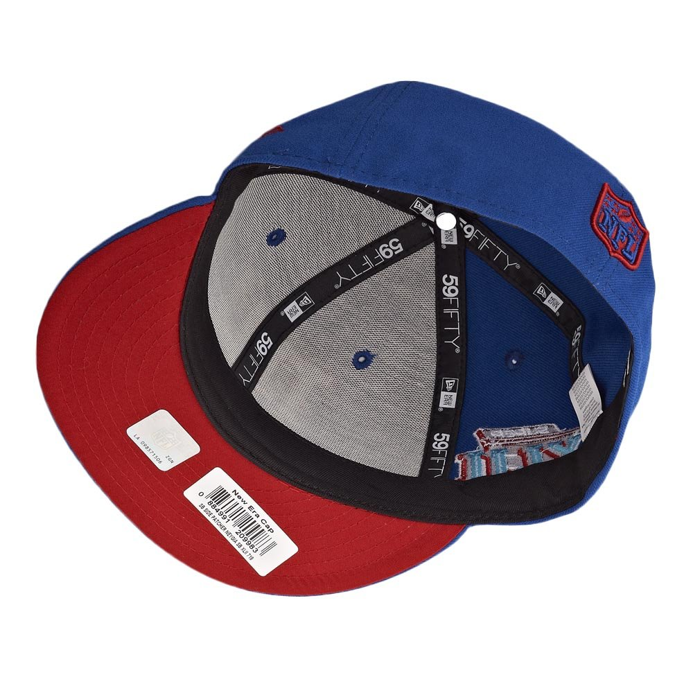Amazon.com   New Era New York Giants 59Fifty NFL Super Bowl XLII Fitted Cap  Royal Red Undervisor   Sports   Outdoors cf2001bf3