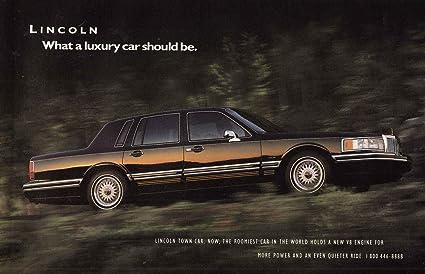 Amazon Com 1991 Lincoln Town Car Luxury Car Lincoln Print Ad