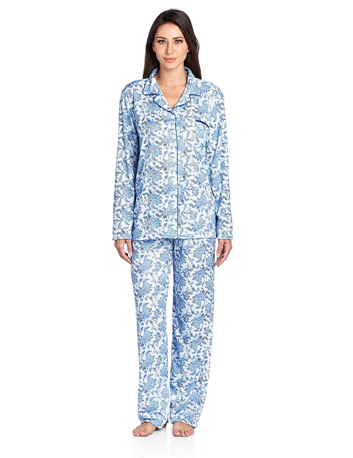 Casual Nights Women s Sleepwear Long Sleeve Floral Pajama Set at Amazon  Women s Clothing store  7f6fb6dfb