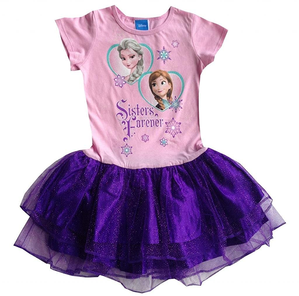 Disney Frozen Girls Two of Hearts Anna Elsa Dress