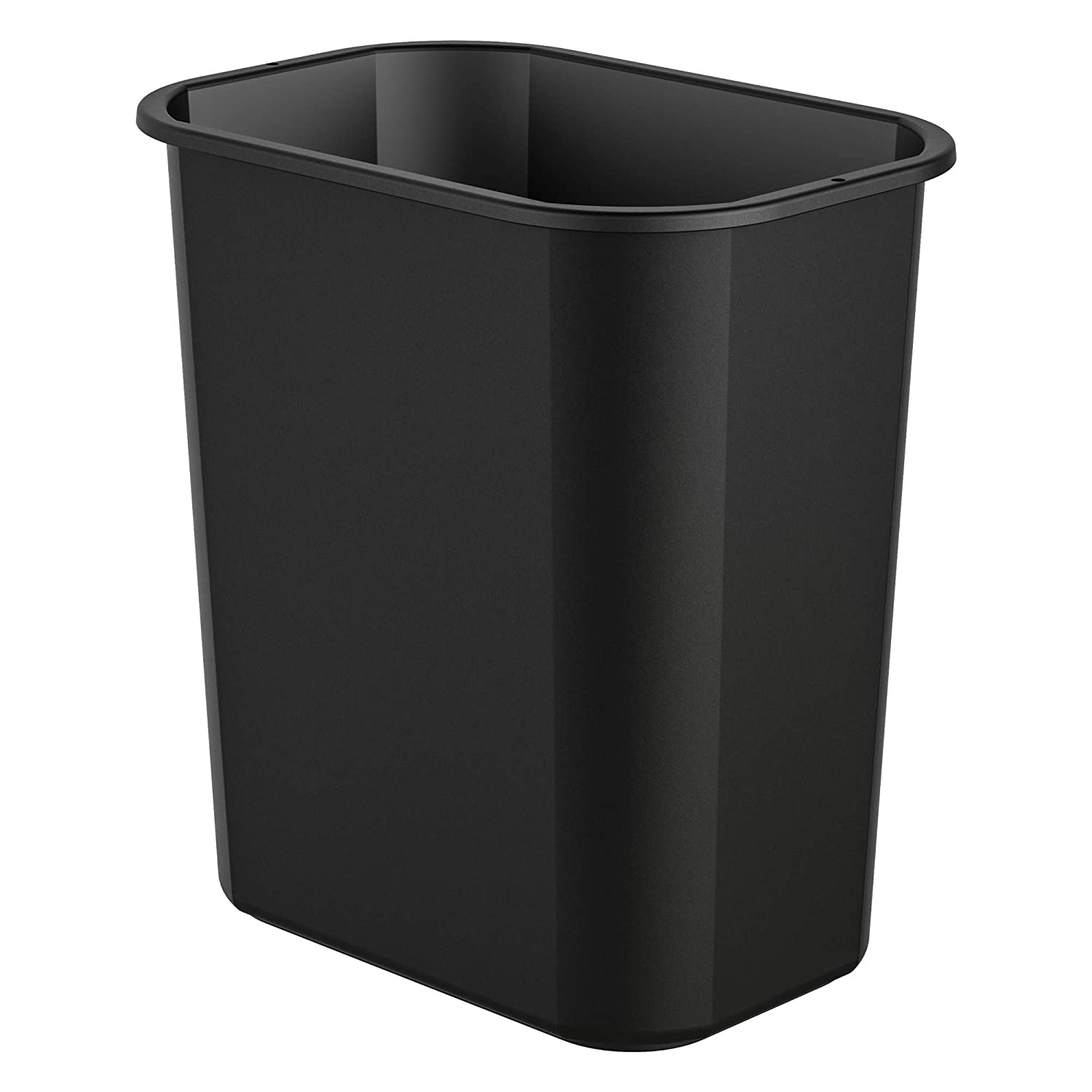 AmazonCommercial 3 Gallon Commercial Waste Basket, Black, 2-Pack