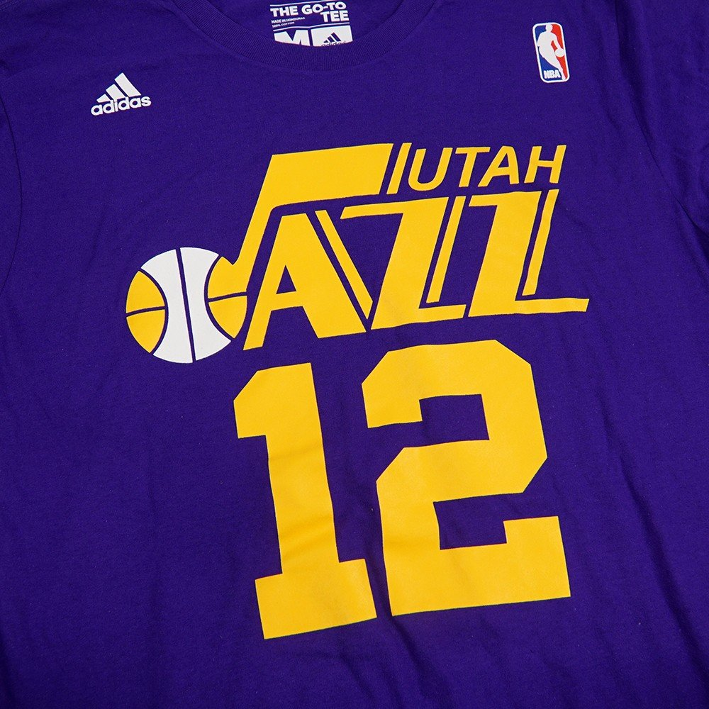40e83aae59579 adidas Utah Jazz John Stockton Purple Throwback Shirt