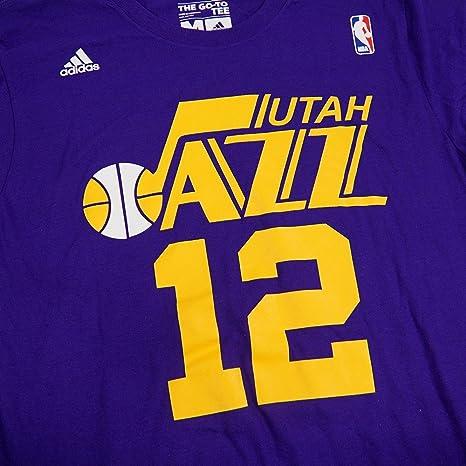 e593a53f Amazon.com: Utah Jazz John Stockton Adidas Purple Throwback Shirt: Clothing