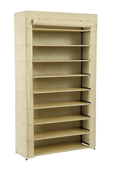 Homebi 9 Tier Shoe Rack Wide Shoe Tower Closet Shoes Storage Cabinet  Portable Boot Organizer