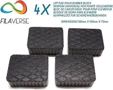 Gummiauflage Kit Mit 4 Gummiklötzen Für Kfz Hebebühnen Abmessungen Des Gummiklotzes 160 X 120 X 70 Mm Auto