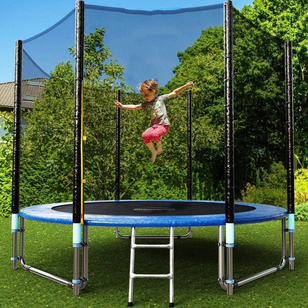 NA - Alfombrilla de salto para cama elástica con muelles y redes de seguridad, se adapta a la mayoría de camas elásticas con marcos redondos para niños al aire libre